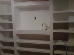 built in shelves