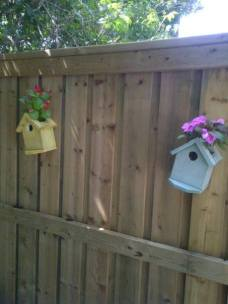 birdhouse flower pots